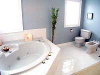 Marmorspachtel Blau im Bad